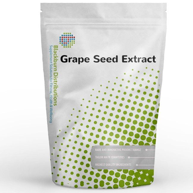 Grape Seed Extract contains oligomeric proanthocyanidins (OPC's) and other polyphenolic compounds. http://www.blackburndistributions.com/grape-seed-extract-95-proanthocyandins.html