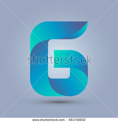 Letter G icon and logo template.  New design and elegant typographic concept. twisted, blue and green.