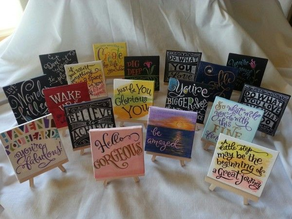 Post image for Small Canvas Gifts with Quotes - these are awesome by Debi Sementelli