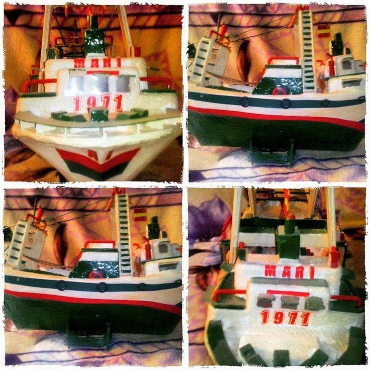 Reproducción de Barco Tradicional Almeriense, hecho Artesanalmente.