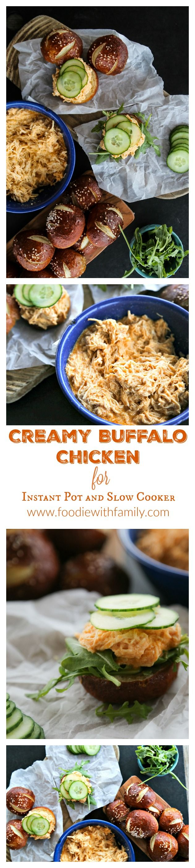 Creamy Buffalo Chicken for Instant Pot or Slow Cooker