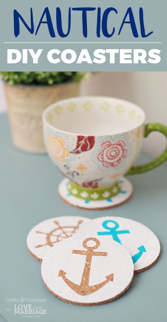 Nautical crafts to make - Easy Nautical Diy Coasters