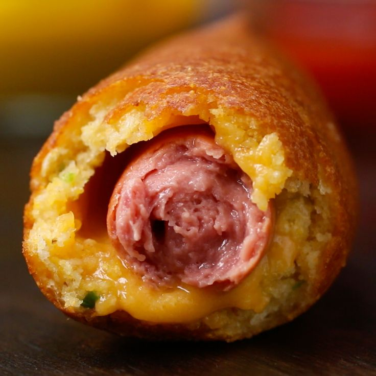 Cheesy Jalapeño Corn Dogs by Tasty