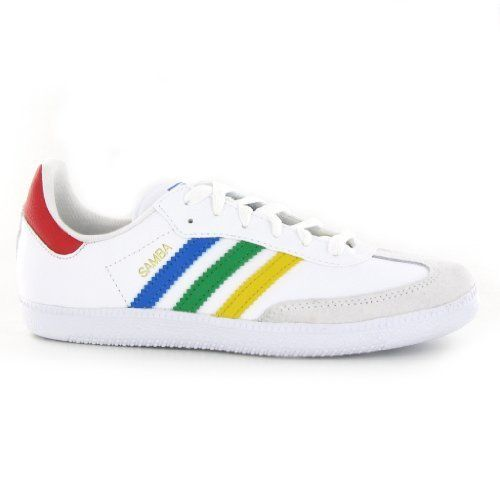 Adidas Samba White Multi Leather Kids Trainers adidas. $68.00