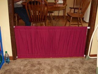 DIY BABY GATE, cheap and very easy to make! It is definitely little kid proof! www.foodstorageresource.blogspot.com