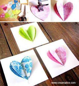 Carte coeur 3D sympa pour la fete des mères ...