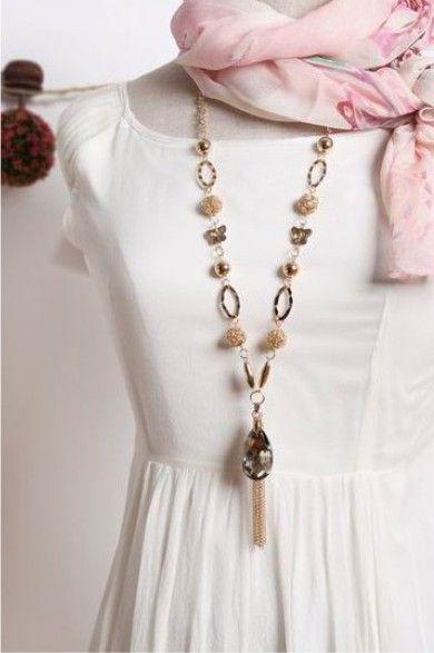 Grande al por mayor del Estilo de la Estrella Grande de Cristal Colgante de cristal Borla Collar de Cadena Larga de Plata Mujer Joyería de lujo Envío gratis