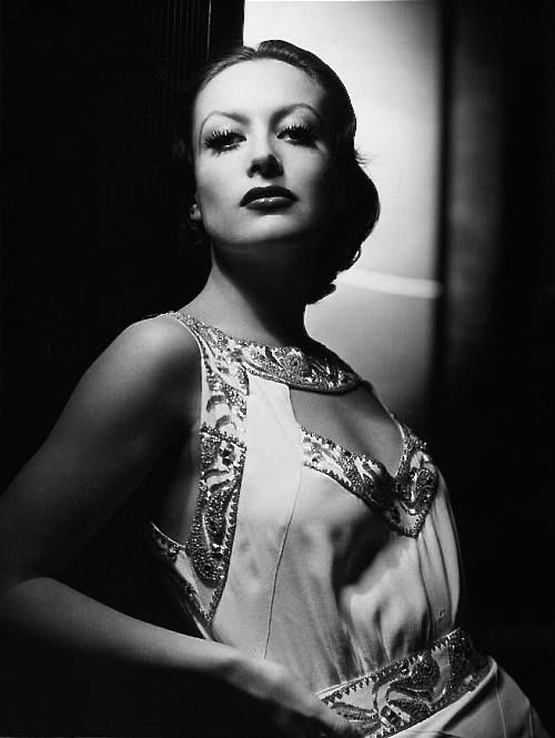 Joan Crawford (photographed by George Hurrell?), 1930s.