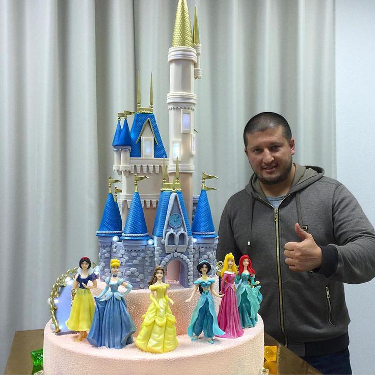 """А вот и сам торт """"Принцессы Диснея"""""""