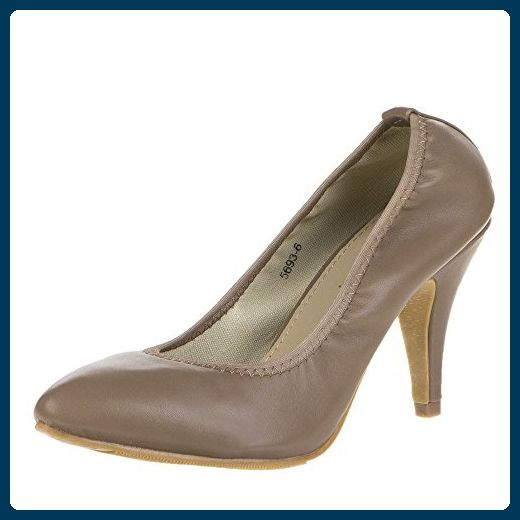 Damen Schuhe, 5693, PUMPS, HIGH HEELS, Synthetik in hochwertiger Lederoptik , Braun, Gr 37 - Damen pumps (*Partner-Link)