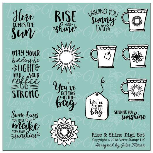 Rise and Shine DIGITAL Set from Verve. #vervestamps