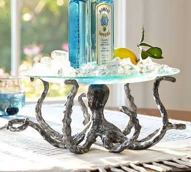 I realize this isnt' a cake stand but it is hilarious adn would be fun to use - Octopus Serving Pedestal #potterybarn