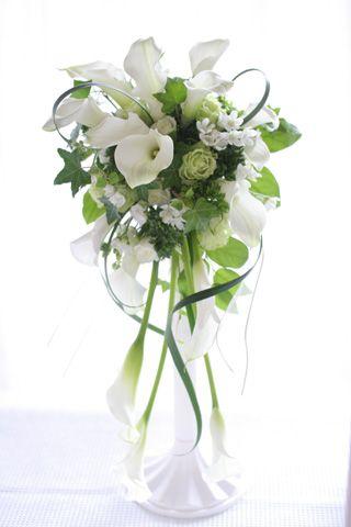 white calla lily bouquet