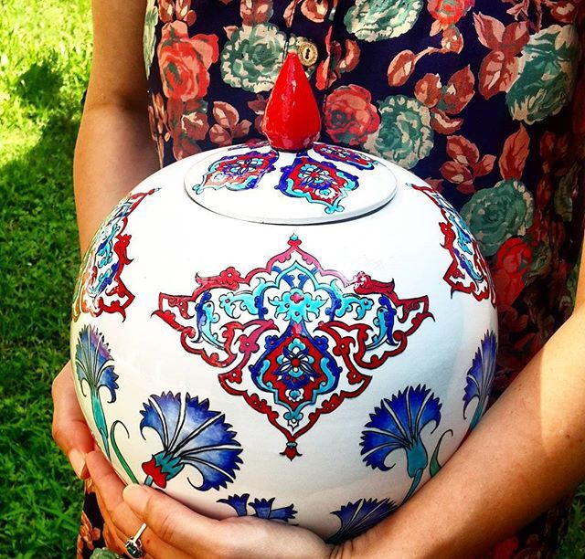 Mediterranean home decor by www.grandbazaarshopping.com , Turkish ceramic vase, iznik ceramic vase