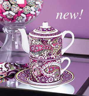 Vera Bradley Tea Time in Very Berry Paisley #MySuiteSetupSweepstakes