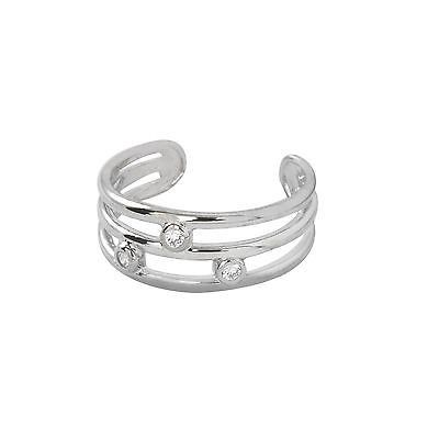 Elements Sterling Silver Double Leaves Toe Ring YePXwwkR