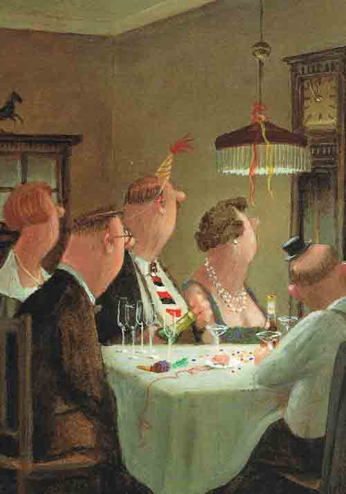 This reminds me of my grandparents and great aunts & uncles at the Christmas Eve celebrations of my childhood! Gerhard Gluck