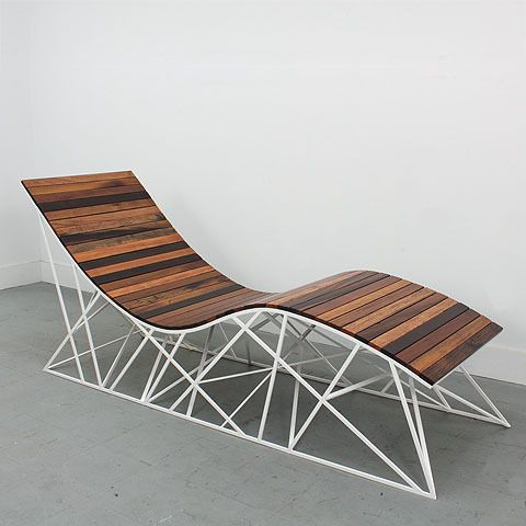 reclaimed wood lounger