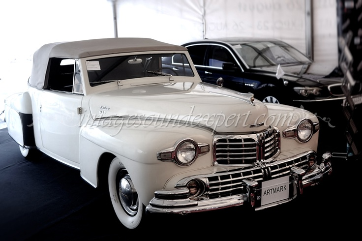 vintage car - lincoln continental 1947