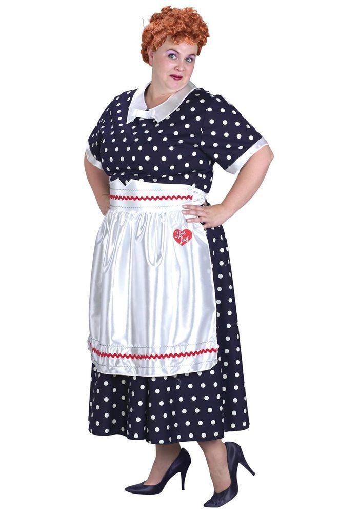 I Love Lucy Costume Lucille Ball Womens Polka Dot Dress Adult Plus Size 18  - 22  Halloween  CostumesforWomen  CoolCostumes d412a33d4e