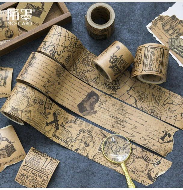 Beautiful wide map washi tape from AliExpress for your planners, journals and art pages and journaling. #washitape #stationery (affiliate link)