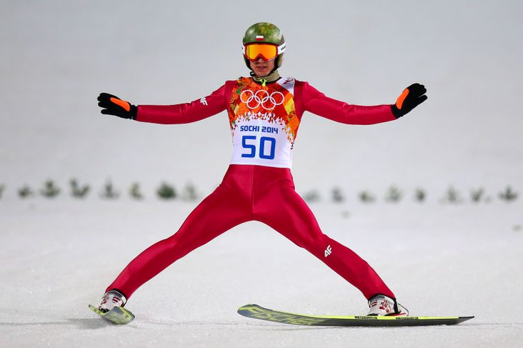 Kamil Stoch of Poland lands his jump during the Men's Large Hill Individual Final Round (c) Getty Images