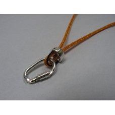 #Climbing Locking #Carabiner and Tube #Belaying Device Necklace