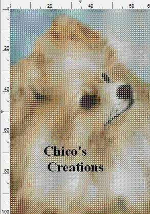 Pomeranian Dog Portrait Cross Stitch Pattern - make it black and tan and it would be Symmie