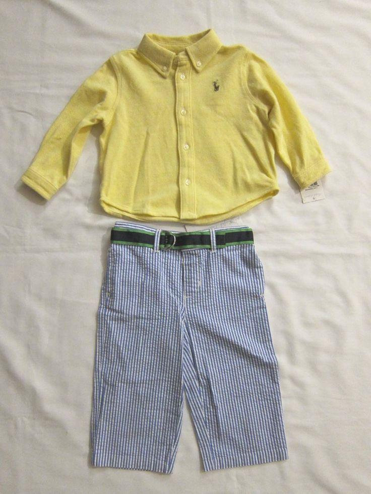 Polo Ralph Lauren Oxford Seersucker Pant Set 6MONS | eBay