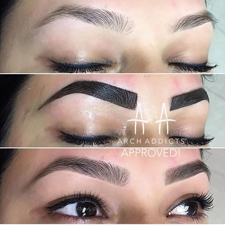 by @archaddicts • brow tinting its lit