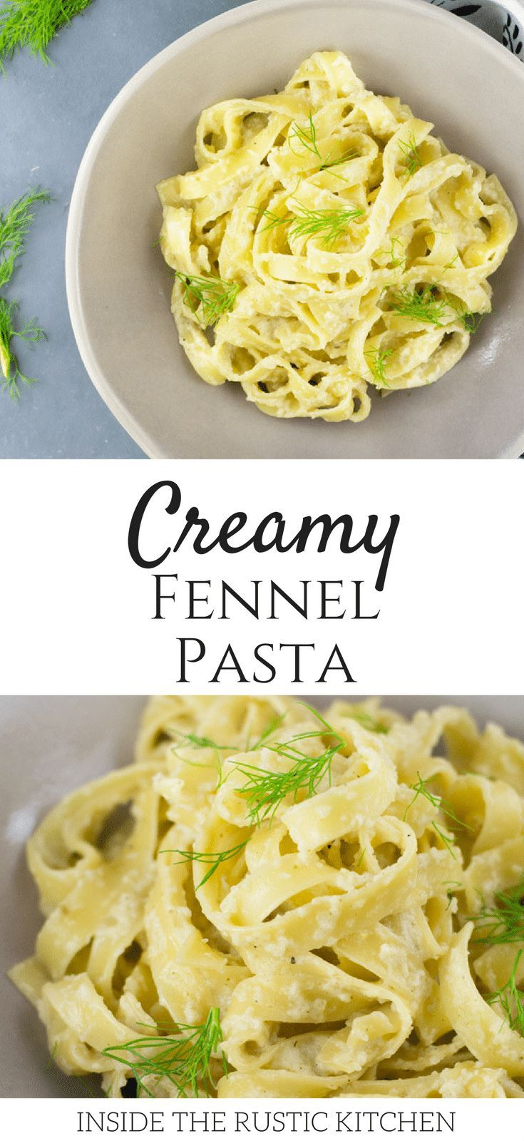 A delicious creamy roasted fennel pasta made with a comforting, creamy, garlic fennel sauce and tossed through delicious fettuccine pasta. insidetherustickitchen.com
