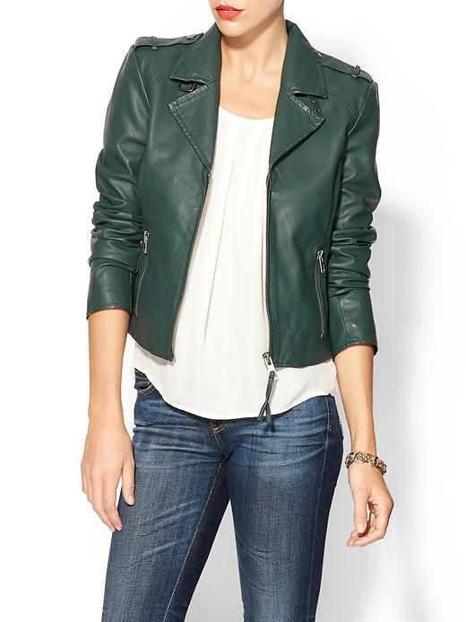 bb dakota missy moto jacket - piperlimeForests Green, Biker Jackets, Style, Missy Moto, Dakota Missy, Fall Fashion, Leather Jackets, Moto Jackets, Bb Dakota
