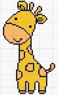 Gráficos ponto cruz - Girafa