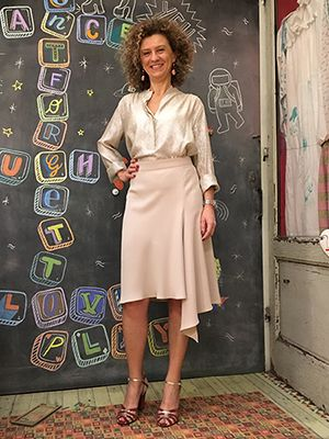 Wait And See presents CRISTINA in INDRESS shirt NATHALIE DUMEIX skirt PAOLA D'ARCANO sandals