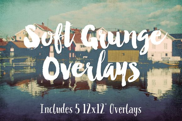 Soft Grunge Overlays by Clikchic Designs on @creativemarket