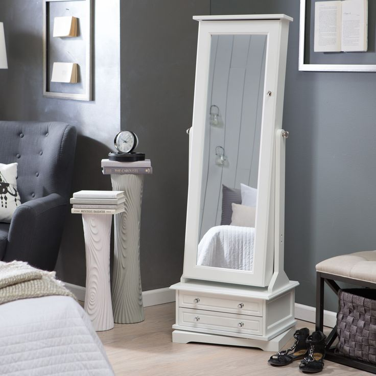 Have to have it. Belham Living Swivel Cheval Jewelry Armoire - White - $369.98 @hayneedle