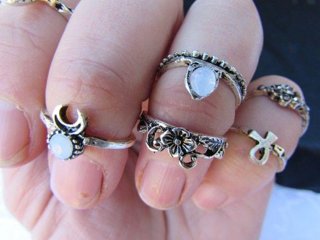 set anelli a mezzo dito