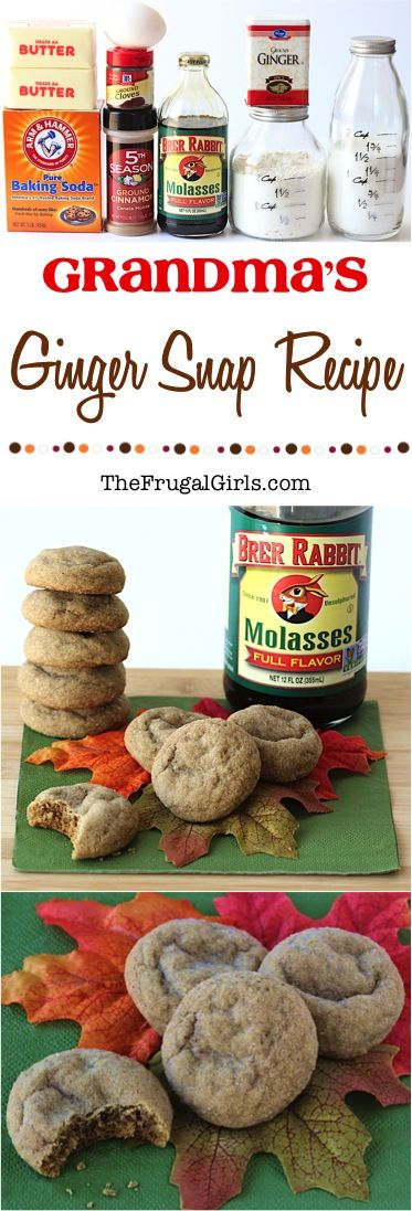 Easy Ginger Snap Cookie Recipe! ~ from TheFrugalGirls.com ~ there's nothing more nostalgic at the holidays than indulging in homemade Ginger Snaps!  This recipe comes straight from my hubby's grandma and every bite is pure bliss!  The BEST Christmas cookies ever!! #recipes #thefrugalgirls