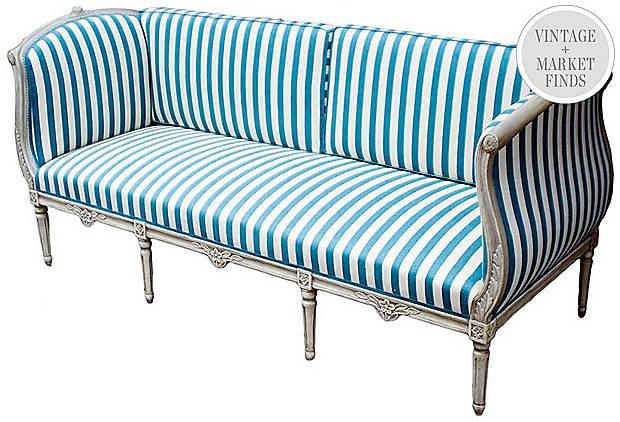 Swedish Gustavian Sofa/Banquette