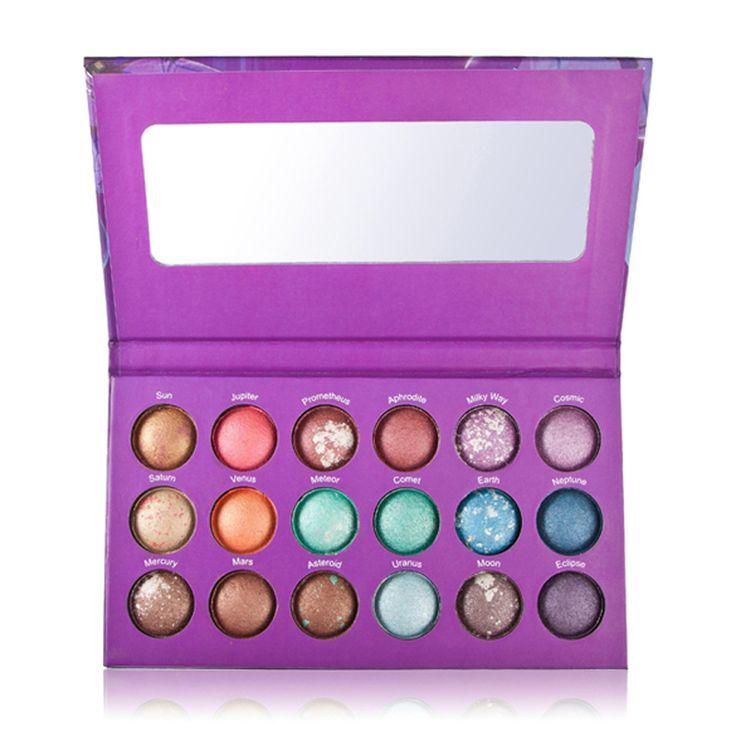 1 pc/lote nova marca de maquiagem chegou BH cosméticos Galaxy Chic 18 cor do céu estrelado Baked sombra paleta de maquiagem nua cor