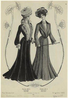 """Já na Inglaterra, o rei Edward, gostava de mulheres maduras e dominadoras com busto pesado. A moda então faz com que os corsets mudem sua estrutura de forma a deixar o busto como o rei gostava. Os espartilhos forçavam o corpo a ficar ereto e ir pra frente levantando o busto e jogando os quadris para trás, fazendo com que o corpo feminino fizesse uma forma de S, considerada """"mais saudável"""" que antiga forma de ampulheta."""