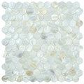 SomerTile 11.5-inch Seashell Penny White Mosaic Tiles (Pack of 10) | Overstock.com Shopping - The Best Deals on Wall Tiles