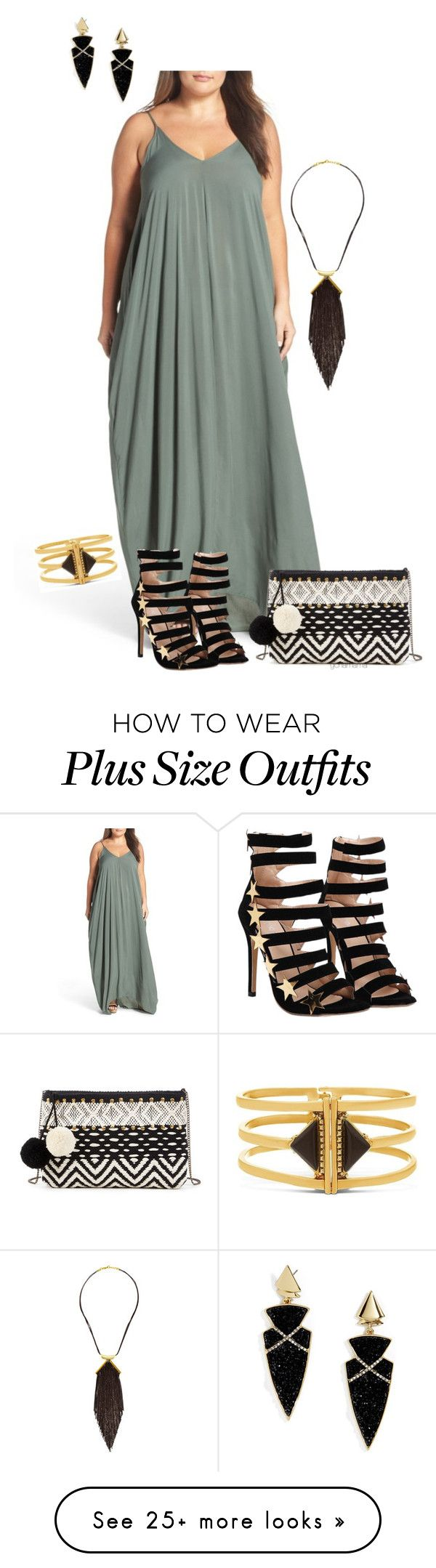 """""""I love summer- plus size"""" by gchamama on Polyvore featuring ELAN, Steve Madden, Sole Society, BaubleBar and plus size clothing"""