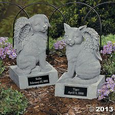 Wonderful Personalized Dog With Angel Wings Memorial Garden Figurine Statue ~NEW~