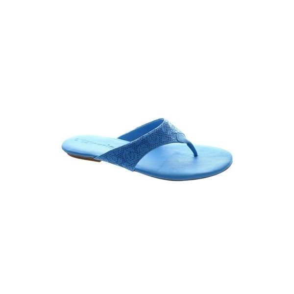 Tamaris 1-27114-26 836 women's blue leather t bar toe post slim heel... ($31) ❤ liked on Polyvore featuring shoes, sandals, flip flops, blue, women, t strap sandals, blue thong sandals, leather flip flops, toe thong sandals and blue leather shoes