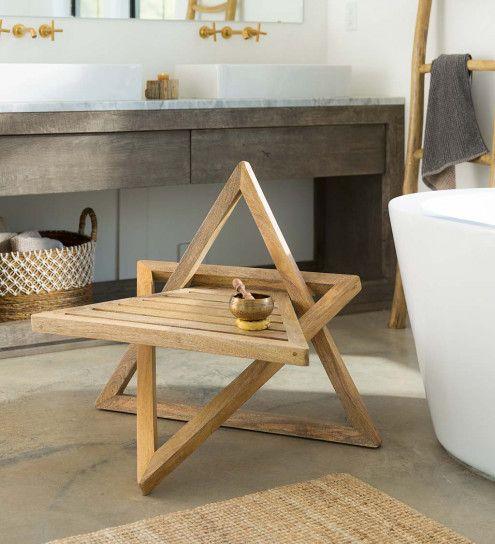 Mango wood meditation chair
