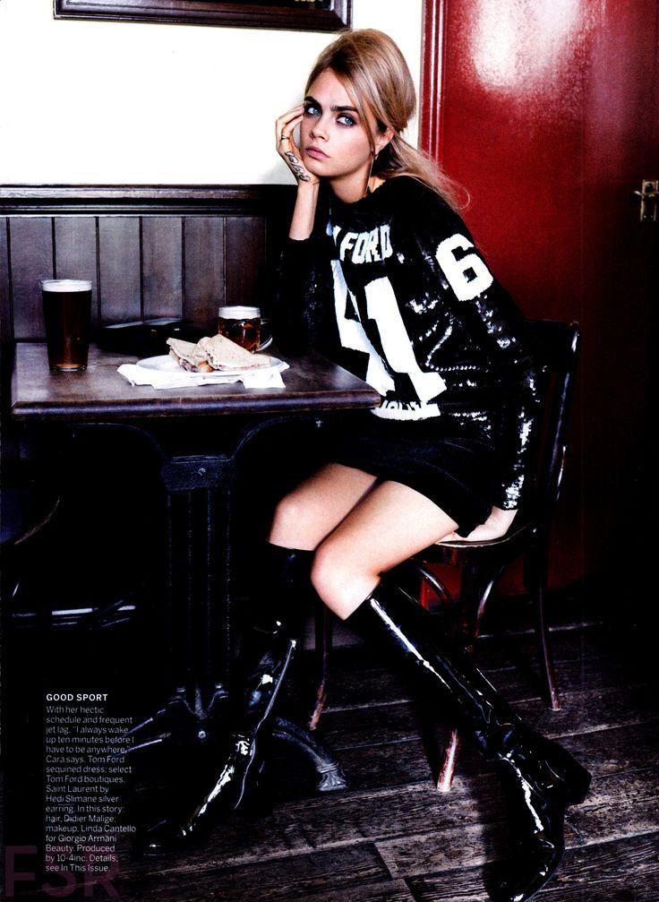 Mod Goddess: #CaraDelevingne by #MarioTestino for #VogueUS July 2014