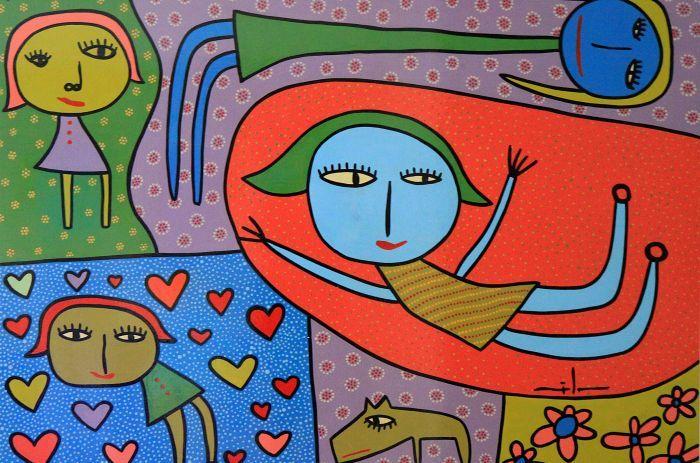 Del corazón a La Boca, mural de Milo Lockett - CABA, Argentina
