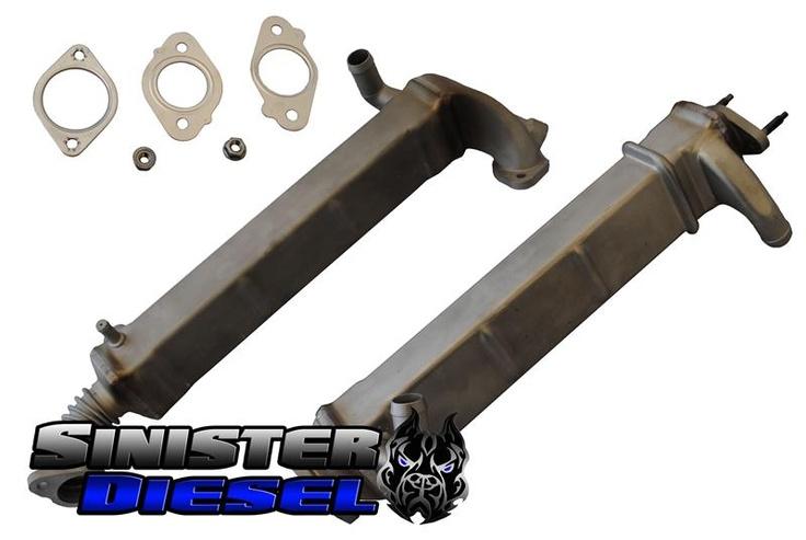 Sinister 6.4l EGR Cooler Kit #egrcooler #sinister #diesel http://www.mkmcustoms.com/sinister64legrcoolerkit.aspx