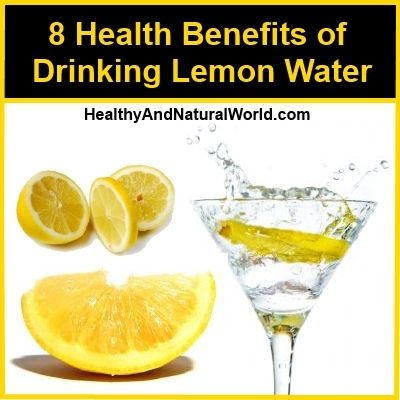 Health benefits of drinking lemon water